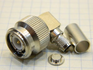 Coaxial connector TNC male 90° Telegartner J01010A0037