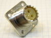 Connector receptable female twin-ax UG103/U Radiall, connettore 2pin