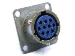 Connector receptable female 10pin 251-02E 12 10S 50, Souriau