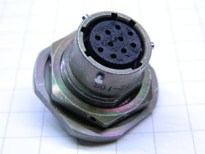 Connector receptable female 10pin IPT07Y-12-10S, connettore