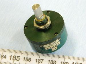 Potenziometro di precisione 2,5Kohm Spectrol 100-1, rotazione continua 360°