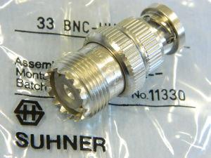 SUHNER 33BNC-UHF-0-1/023 adattatore BNC maschio/UHF femmina