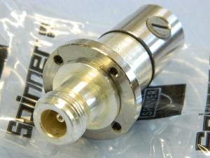 "SPINNER BN74 75 17  connettore N femmina flangiato, cavo cellflex 7/16"""" 50ohm"