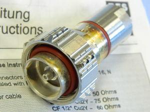 "7-16 connettore  maschio SPINNER BN64 23 11  cavo cellflex  1/2"""