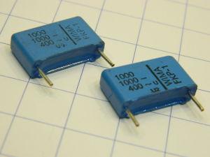 1000pF 400Vac  WIMA FKP-1 capacitor (n.2pcs.)