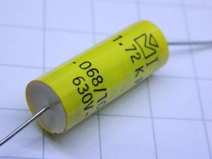0,068uF 630Vdc condensatore assiale ARCOTRONICS 1.72KP