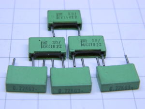 0,22uF 63V condensatore ERO MKT(n.6 pezzi)