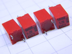 0,01MF 63V 1,25% capacitor MIAL (n.4 pcs.)