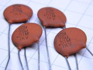 0,01MF 1KV condensatore ceramico (n. 4 pezzi)