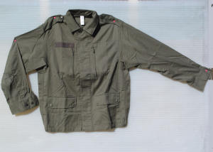 Tactical jacket 100% cotone verde antispine, 4 tasche modello originale French Army, vintage