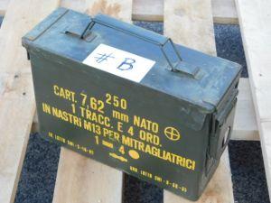 Cassetta portamunizioni in acciaio stagna cm.26x18x9,5  #B   contenitore ignifugo
