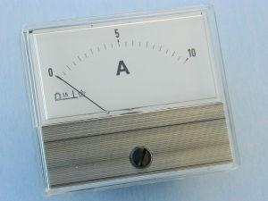 Amperometro 10Adc 70x60 , classe 1.5