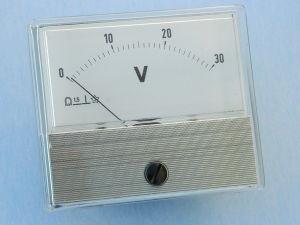 Voltmeter 30Vdc 70x60, class 1.5