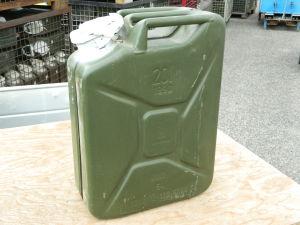 Water canister 20 lt. original German Army, gasoline, oil, diesel