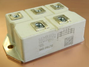 SKD210/12 Semikron 3 phase bridge rectifier,  210A 1200V