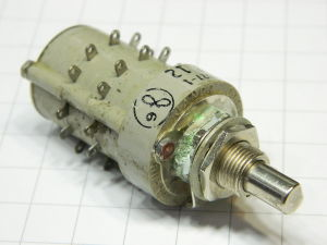 Rotary switch JANCO 7 pos. 2 way
