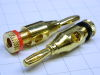 Pair banana plug all brass gold plated