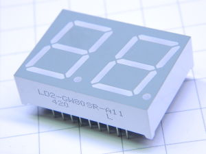 Display led 7 segmenti 2 cifre LD2-GW80SR-A11 verde
