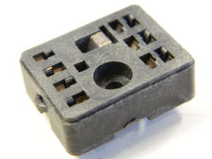 Socket 10 pin for Siemens relay 2sc. printed circuit contact