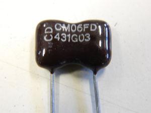 430pF 500vcc silver/mica capacitor