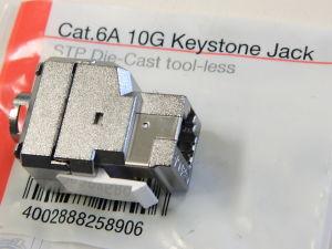 Keystone Jack Cat.6A 10G modulo schermato presa rete