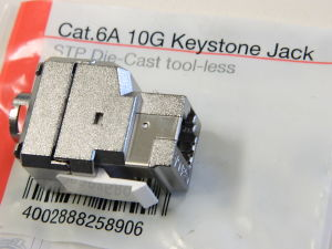 Keystone Jack Cat.6A 10G shielded module