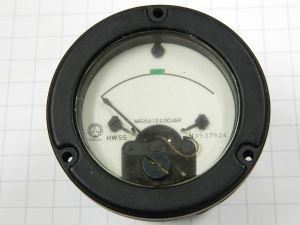 Amperometro 100uA fondo scala  stagno  foro mm. 55