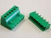 Morsettiera connettore completo 6 poli circuito stampato passo mm. 5