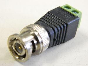 Connettore BNC maschio con serrafili per telecamere DVD