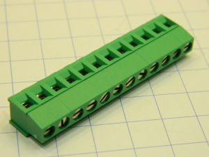 Morsettiera 12 posti circuito stampato passo mm.5