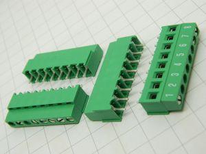 Morsettiera 8 posti circuito stampato passo mm.5  (n.4 pezzi)