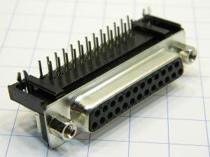 Connettore D SUB 25 pin femmina 90° circuito stampato