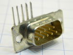 Connettore D SUB 9 pin maschio 90°