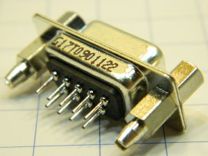 Connettore D SUB 9 pin femmina circuito stampato