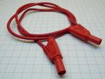 Cavetto filo professionale extra flessibile con spina banana di sicurezza impilabile cm.90 rosso