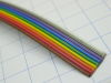 Ribbon cable colored 9 poles AWG28,  1,27