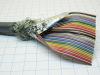 Flat cable rotondo colorato schermato 40 poli AWG28, passo 1,27