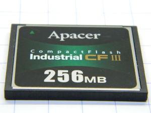 Apacer Compact Flash Industrial CFIII 256Mb AP-CF256ME3FR-NDNRJ memory