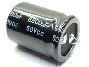 6800uF 50Vcc condensatore elettrolitico Nantung298 105° snap-in