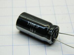 3300MF 16Vdc capacitor CE NHG 105°