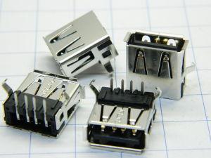 Connettore USB presa da circuito stampato 90° (n. 4 pezzi)