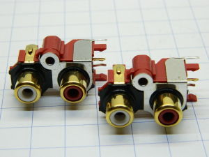 Audio chassis mount RCA female gold plated  (n.2pcs.)