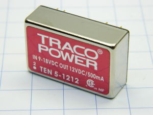 DC-DC Converter TRACO POWER TEN5-1212, in 9-18Vdc , out 12Vdc 0,5A