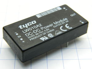DC-DC Converter TYCO LW010A2 , in 36-75Vdc, out 5Vdc 2A
