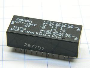PCB relay OMRON G5Y-254P-BB, 12Vdc coil, 4 DPDT