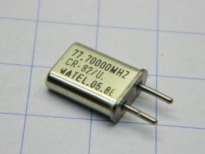 Crystal oscillator CR82/U  77,70000 Mhz