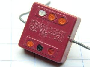 3300pF 500Vdc  Mica capacitor Cornell Dubilier