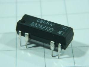 Relè reed 5Vcc 2 contatti N.O.  500mA  CELLDUC D32A2100