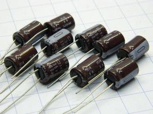 100uF 35Vcc condensatore elettrolitico SXE 105° (n.10 pezzi)