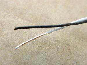 Cavo  2xAWG24  twistato in Teflon ,  solid core rame OFC argentato 2micron